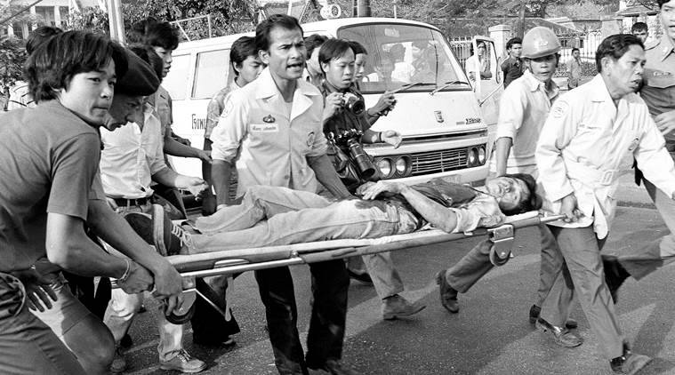 Thailand 1976 university massacre, Thailand massacre anniversary, Massacre anniversary,Thammasat University, Thai campus massacre, Thailand protests, World news