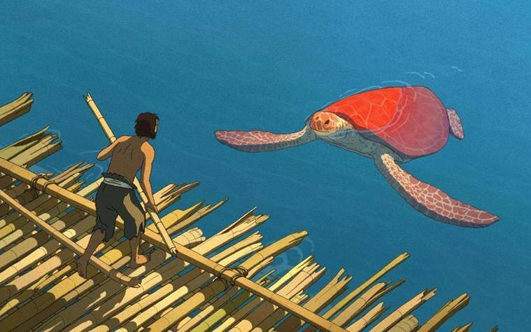 Michaël Dudok de Wit, The Red Turtle follows the life of a castaway on a deserted tropical island populated by turtles, crabs and birds.