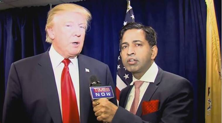 Donald Trump, trump, hindus for trump, hindu trump, saurabh sukhla, trump saurabh shukla interview, trump times now interview, Republican, US elections 2016, US presidential elections, Hindu Republican Coalition, Donald Trump in Hindu event, Donald Trump fan of Hindu, Hindu fundraiser event, Hindu fundraiser event New Jersey, world news, indian express,