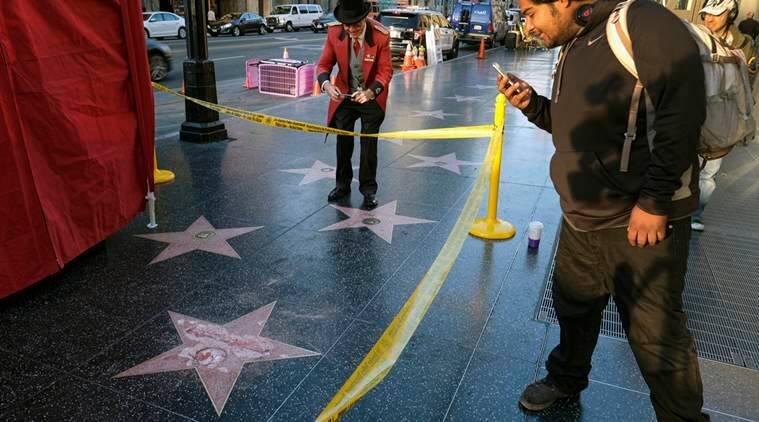 donald trump, trump star, trump star damaged, trump star vandalised, donald trump hollywood star of fame, hollywood star of fame donald trump, trump hollywood star, donald trump hollywood star, world news