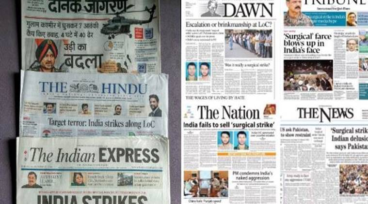 This is how different 'surgical strikes' were covered in India and Pakistan/ Twitter