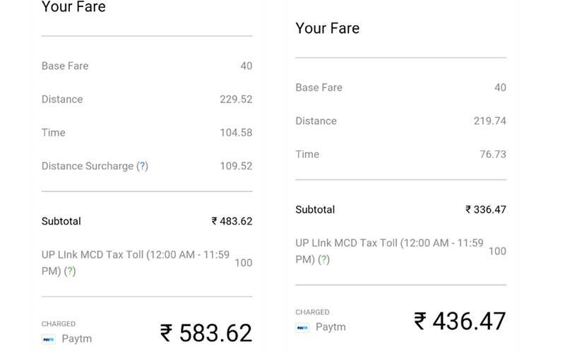Watch Out Uber Ola Rides Beyond 20kms In Delhi Ncr Will Cost You