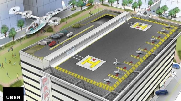 Aerial commuting, Uber air commuting, commuting like Jetsons, Uber news, tech news, science news, latest news, Indian express