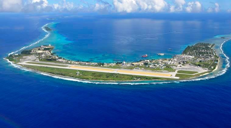 This Aug. 8, 2015 photo suppled by U.S. Army show an aerial view of Kwajalein Atoll, where a Space Fence complex is being in the Marshall Islands. The US military ignored warnings about rising seas to build a space radar costing nearly a billion dollars on a tiny atoll in the Marshall Islands. The Space Fence system is considered vital for keeping astronauts and satellites safe by tracking space junk as small as a baseball.(Photo/U.S. Army via AP)