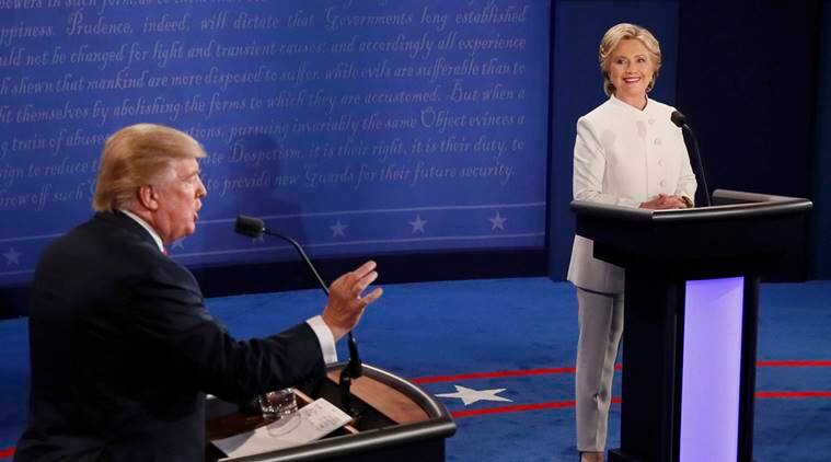 US, US presidential debate, US elections 2016, US polls, final debate, US presidential final debate, Hillary clinton, democratic hillary clinton, donald trump, republican donald trump, US presidential candidates, US elections news, world news, indian express, latest news