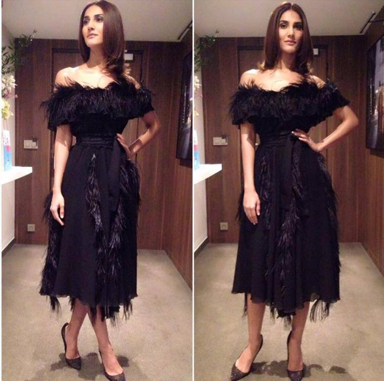 Vaani Kapoor in Salvatore Ferragamo. (Source: Instagram/Mohit Rai)