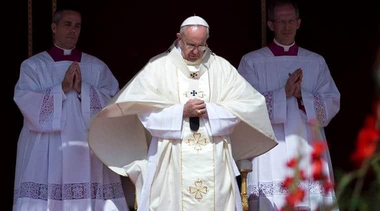 last mass, mass vatican city, pope francis, pope, vatican city mass, world news, indian express,