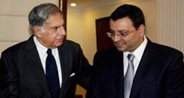 New Delhi:  **FILE** File photo of Ratan Tata (L) with Cyrus Mistry. Tata Sons on Monday removed Cyrus Mistry as its Chairman, nearly four years after he took over the reins of the group. Ratan Tata makes a comeback, taking over as the company's interim boss for 4 months.  PTI Photo (STORY DEL66)(PTI10_24_2016_000165B)