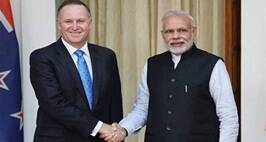 PM Modi Meets New Zealand Prime Minister John Key