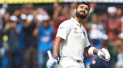 Virat Kohli, kohli, kohli photos, Virat Kohli double hundred, Ajinkya Rahane, Rahane, rahane photos, Kohli Rahane, kohli Rahane partnership, India vs New Zealand, ind vs nz, ind vs nz 3rd test, ind vs nz photos, cricket photos, cricket