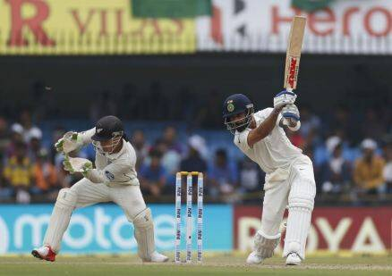 Kohli, Virat, Virat Kohli, Kohli hundred, india vs new zealand, ind vs nz, ind vs nz 3rd test, ind vs nz indore, ind vs nz 3rd test photos, ind vs nz test photos, India cricket, cricket photos, cricket newws, cricket
