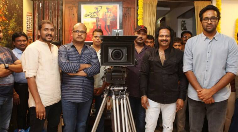 Luckkunnodu movie crew at the shooting set