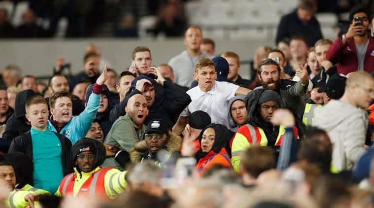 West Ham, West Ham fans, West Ham fan violence, West Ham fan trouble, West Ham fans, West Ham stadium ground, Sports