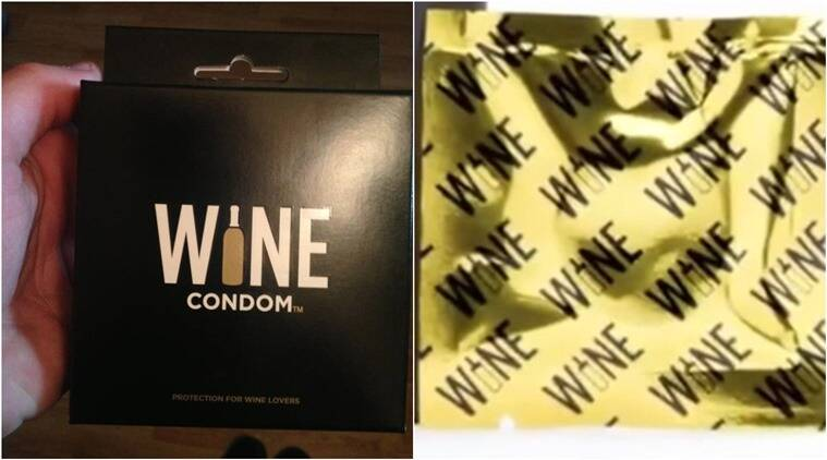 condoms, wine condoms, wine, bizarre condoms, bizarre food trends, food and wine, wine, how to protect wine from spilling, indian express, indian express news