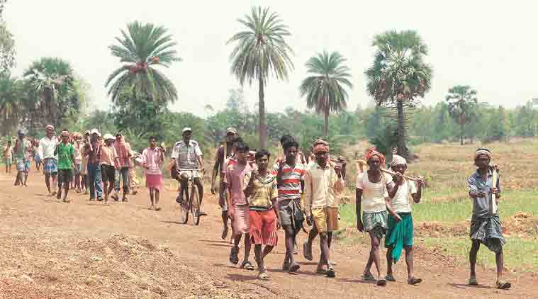 MGNREGA, MNREGA jobs, Rural distress, MGNREGA jobs last year, Mahatma Gandhi National Rural Employment Guarantee Act, Job crisis, farmer distress, poverty, india news, indian express