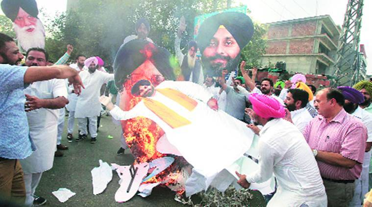 youth akali dal, congress, congress akali dal clash, ludhiana youth akali dal, congress yad clashes, yad clashes ludhiana, india news, ludhiana news, indian express news