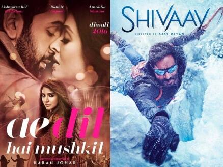 ae dil hai mushkil, shivaay, ae dil hai mushkil shivaay, ae dil hai mushkil collections, shivaay collections, ae dil hai mushkil shivaay box office clash, ae dil hai mushkil shivaay 75 crores, ae dil hai mushkil shivaay winner, ae dil hai mushkil shivaay competition, ae dil hai mushkil karan johar, shivaay ajay devgn, ae dil hai mushkil shivaay release, adhm shivaay, adhm shivaay box office collections, adhm shivaay box office clash, bollywood films, bollywood hits 2016, karan johar films, ajar devgn films, bollywood news, indian express, indian express snews