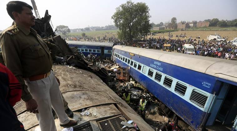 indore patna express, train accident, kanpur, patna indore express, train accident today, derailment, train derailment, patna train derailed, india news, indian express