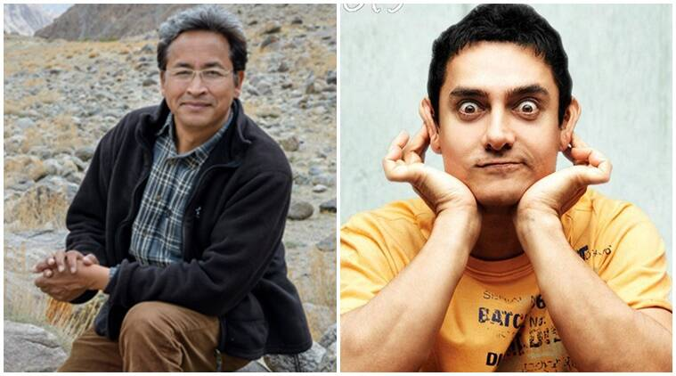 engineer inspiration 3 idiots, Sonam Wangchuk Phunsukh wangdu, Aamir Khan character 3 idiots, aamir khan 3 idiots character engineer inspired, Aamir role in 3 idiots, Sonam Wangchuk global award, Sonam Wangchuk, Aamir Khan 3 idiots, bollywood news, bolywood updates, entertainment news, indian express news, indian express