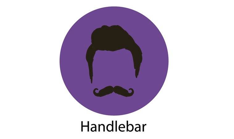 Mans hair set of beards and mustaches vector. Hipster style fashion beards and hair isolated illustration. Peoples hairstyle icon, collection of beards and mustaches for barbershop.Mans trendy haircut types for barber shop. Isolated collection of mans beards design, haircut of head heir and mustaches.Hipster hair and beards, fashion vector illustration set.