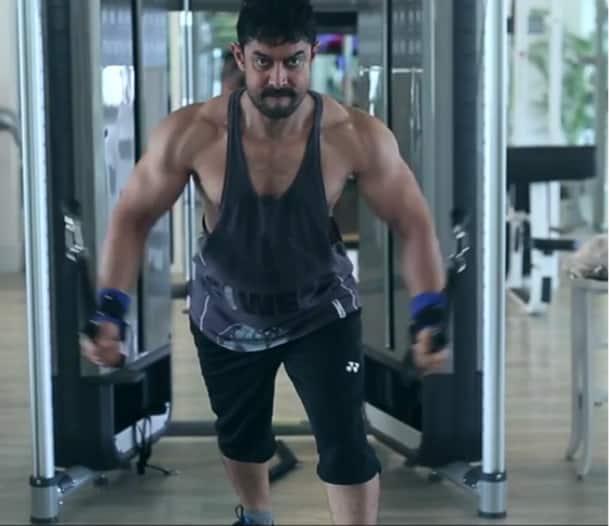 Aamir Khan bodysuit in Dangal, Aamir Khan body language post weight gain, Aamir Khan weight loss exercises