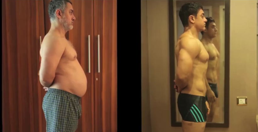 Aamir Khan fat to fit transformation, Aamir Khan transformation, Aamir Khan Mahavir Singh Phogat, Aamir Khan role in Dangal, Aamir Khan weigt gain,
