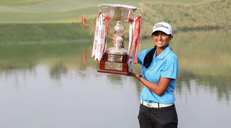 Aditi Ashok, Indian Open, Aditi Ashok Indian Open, Indian Open 2016, Indian open Aditi Ashok, Golf India, Golf