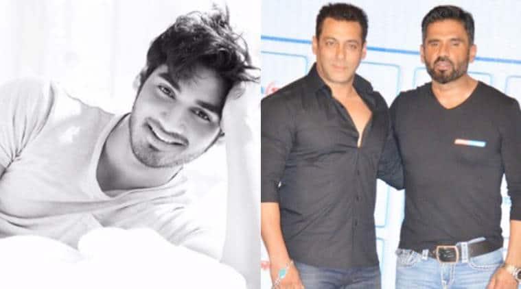 Ahan Shetty, salman khan, salman Ahan Shetty, Ahan Shetty debut, Suniel Shetty son Ahan, karan johar