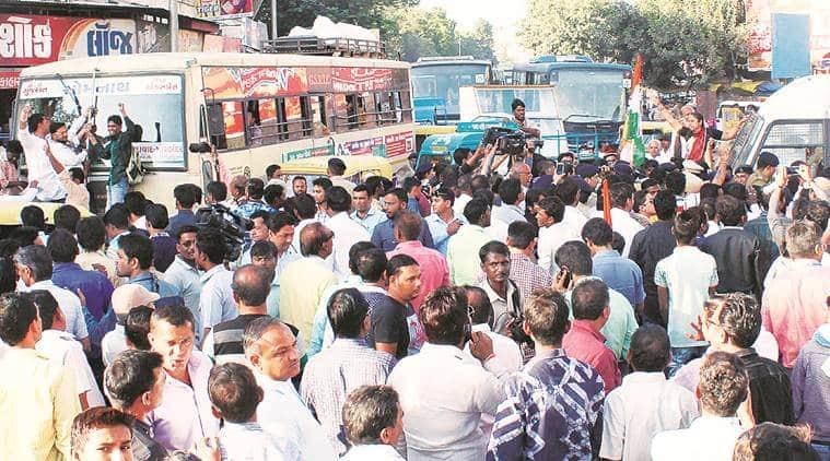Gujarat Congress, Congress workers, Gujarat Congress protest, Gujarat protests, Gujarat news, india news, latest news, indian express
