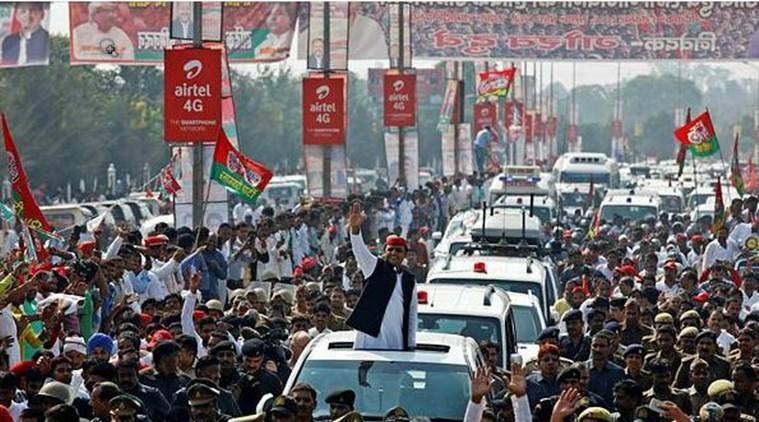 uttar pradesh elections, akhilesh yadav, akhilesh yadav, up rath yatra, akhilesh rath yatra, up polls, ajit singh, samajwadi party, sp, sp rld alliance, up campaign, indian express news, india news, india news