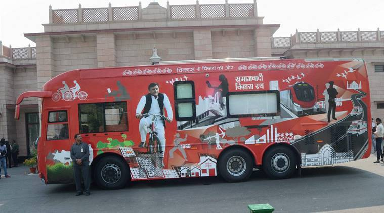 Akhilesh Yadav, Akhilesh Yadav rath yatra, samajwadi party rath yatra, mulayam singh yadav, Shivpal Yadav, samajwadi party, India news, Indian express news
