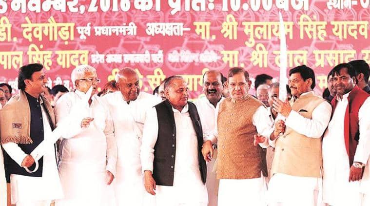 Samajwadi silver jubilee, Amar singh, SP feud, SP split, uttar pradesh elections, UP polls, india news, indian express