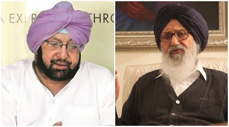 Parkash Singh Badal, Badal, Amarinder Singh, Amarinder, badal amarinder spat, punjab elections, punjab assembly elections, punjab politics, india news, latest news, indian express