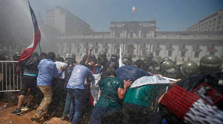 Chile, Chile riots, Chile palace, Chile salary hike, news, latest news, world news, international news