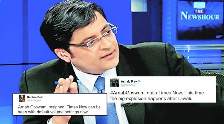 arnab goswami quits, arnab goswami resigns, arnab goswami quits times now, arnab goswami times now, did arnab goswami quit, arnab goswami quits twitter reactions, indian express news, indian express