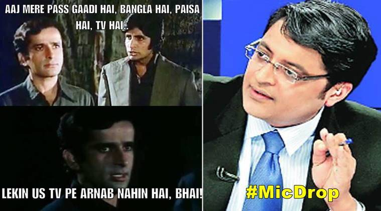 Bollywood Funny Meme Pics : Arnab goswami quits u in bollywood memes the indian express