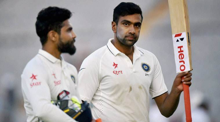 R Ashwin and Ravindra Jadeja shared an unbeaten 67-run stand for the seventh wicket. (Source: PTI)