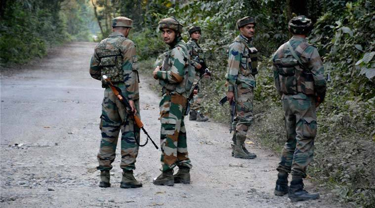 Security forces launch a combing operation in Pengeri reserve forest in Assam's Tinsukia district on Saturday. (PTI Photo)