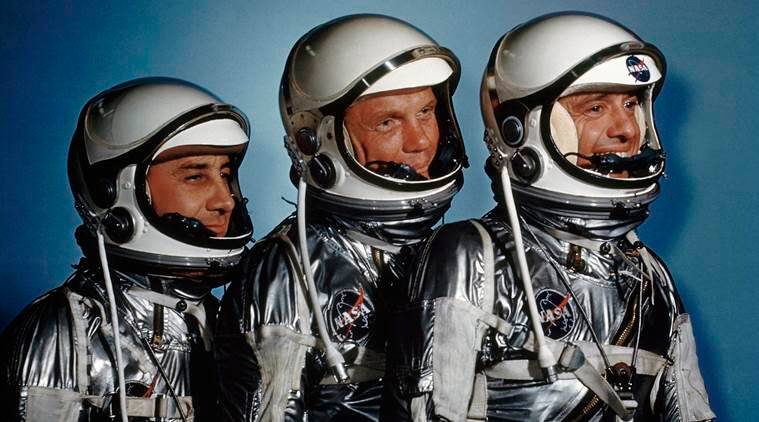 NASA, NASA exhibit, NASA astronauts, Buzz Aldrin, Jim Lovell, NASA news, tech news, science news, latest news, indian express
