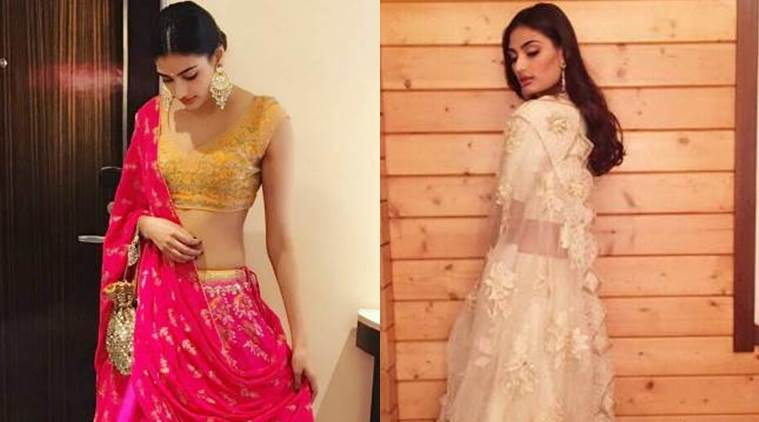 Athiya Shetty rocks Indian wear as well as western. (Source: Instagram/Anita Dongre, Athiya Shetty)