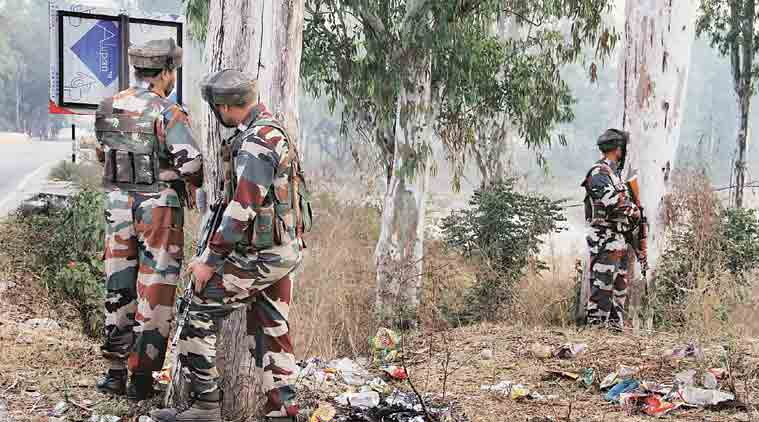 Nagrota, Jammu and Kashmir attack, Nagrota attack, Jammu and kashmir, J&K militants, J&K encounter, Kashmir encounter, Ramgarh sector , samba, Manohar Parrikar, Parrikar, narendra Modi, Modi, PM Modi, india news, indian express news