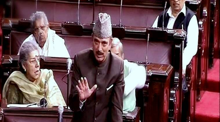 New Delhi: Leader of Opposition Ghulam Nabi Azad speaks in the Rajya Sabha on the opening of the winter session of Parliament in New Delhi on Wednesday. PTI Photo / TV GRAB (PTI11_16_2016_000353A)