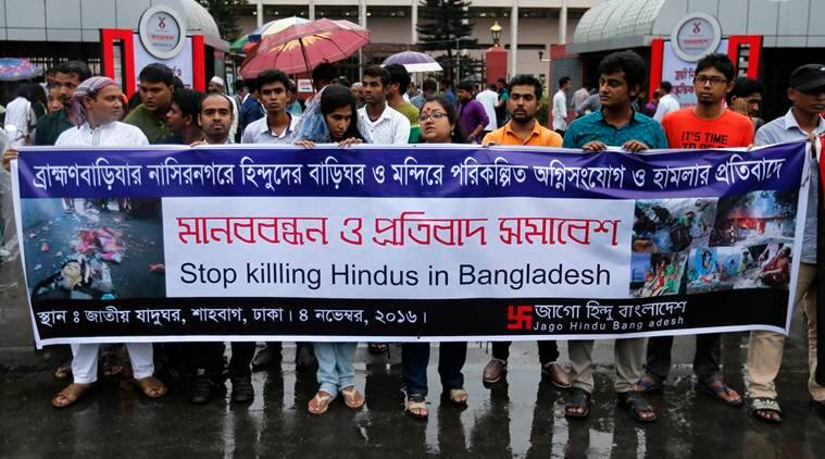 attacks on Hindu in Bangladesh, attacks on Bangladeshi Hindus, temple attacks, temples vandalized, houses torched, Sheikh Hasina, Bangladesh Prime Minister, world news, indian express news