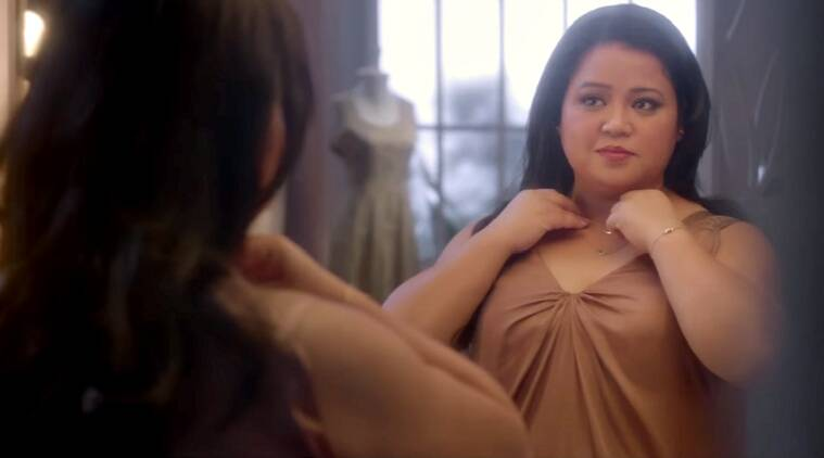 bharti singh, bharti singh ad, bharti singh beauty commercial, bharti singh body shaming, bharti singh tvc, bharti singh stereotypes, bharti singh comedy night bachao taaza, bharti singh comedy, comedian bharti singh, bharti singh overweight, bharti singh weight ad, bharti singh social message, bharti singh ad, bharti singh news, television news, indian express, indian express news
