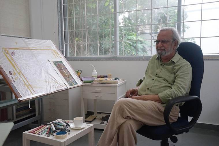 Artist Gulammohammed Sheikh has spent six decades at the faculty.