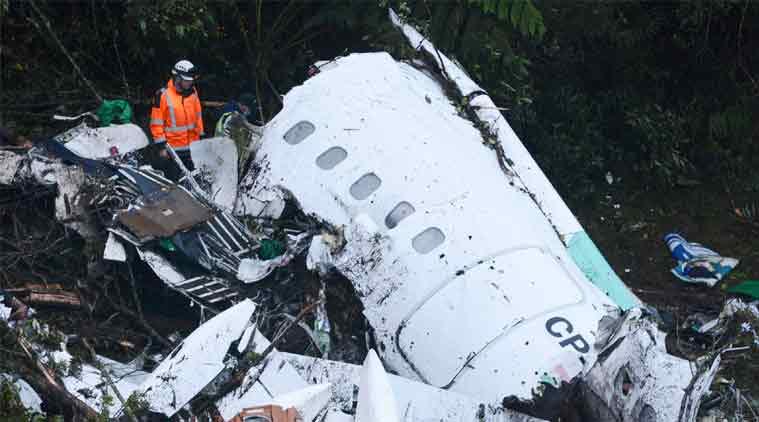 colombia plane crash, brazilian football team plane crash, chapocoense plane crash, bolivian authorities, world news, latest news, indian express