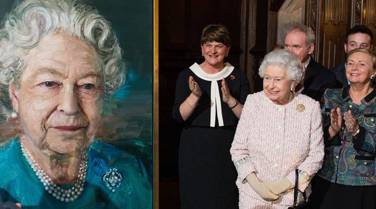 Queen Elizabeth, Queen Elizabeth portrait, Queen Elizabeth painting, Queen painting, UK queen, news, latest news, world news, international news