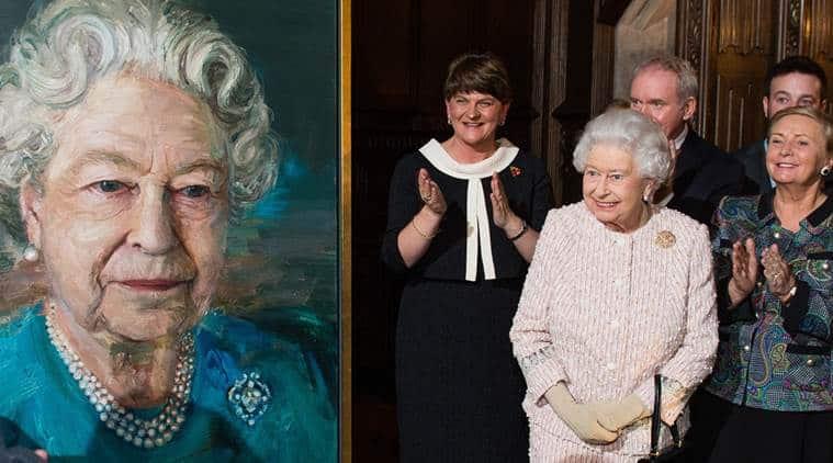 Queen Elizabeth,Queen Elizabeth portrait,Queen Elizabeth painting, Queen painting, UK queen, news, latest news, world news, international news