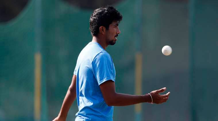 India's Jasprit Bumrah attends a practice session ahead of the third one-day international cricket match against New Zealand in Mohali, India, Saturday, Oct. 22, 2016. (AP Photo/Tsering Topgyal)