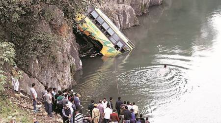 bus accident, UP bus accident, Bargudar Pul bus accident, UPSRTC bus accident, indian express news